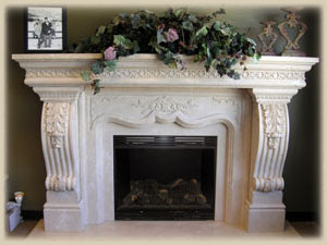 Classical Style fireplace in Utah